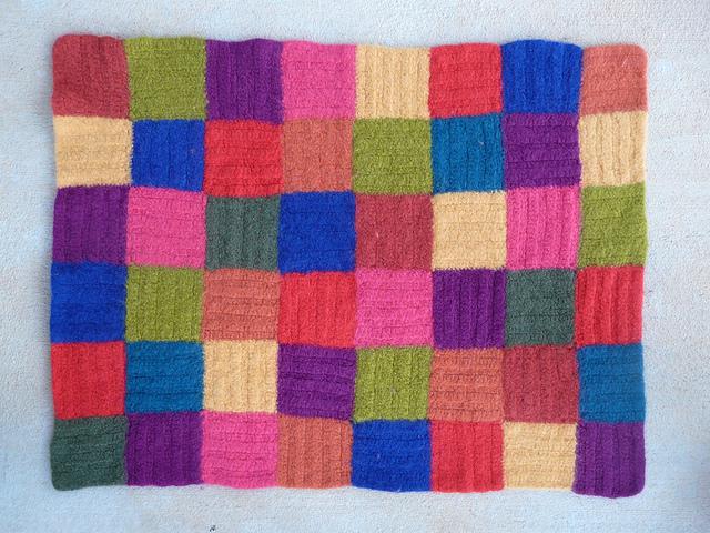 felted crochet pet mat