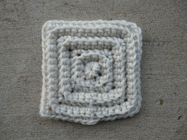 small textured crochet square