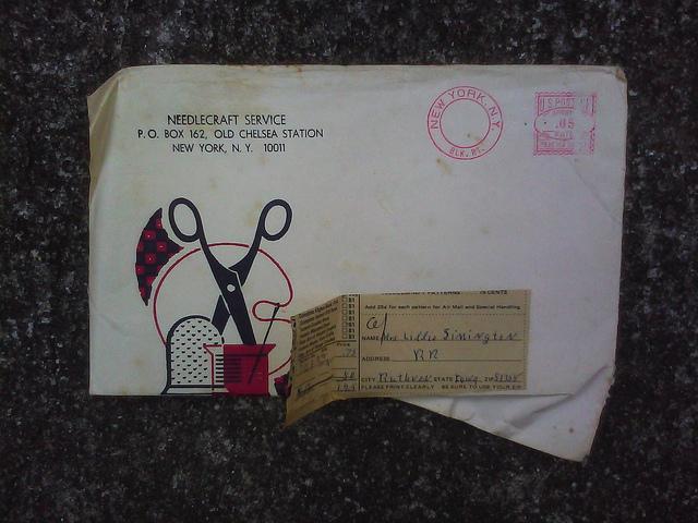 An envelope for Lillie Simington