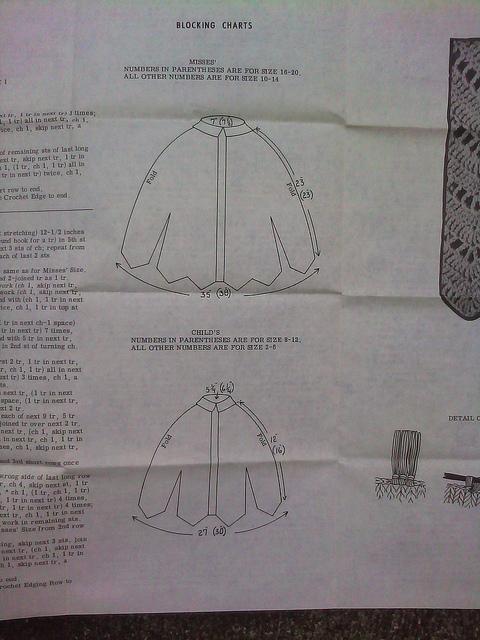 a crochet cape illustration