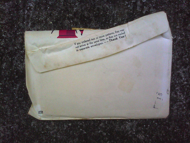 envelope addressed to Lillie Simington