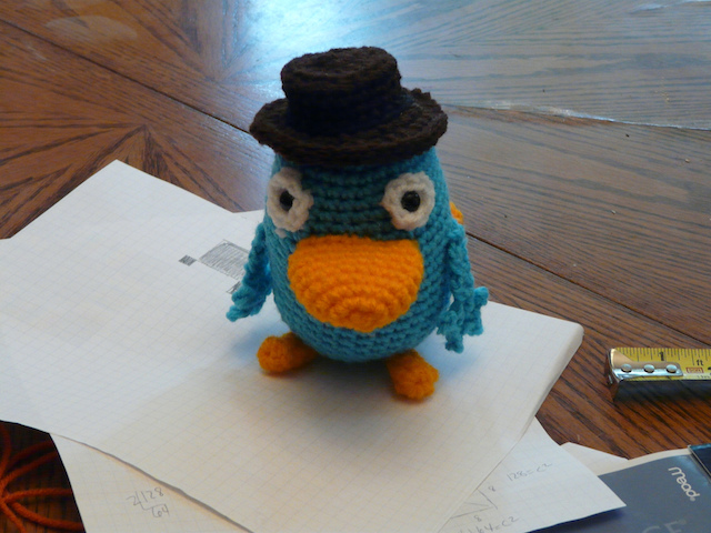 Perry the crochet platypus