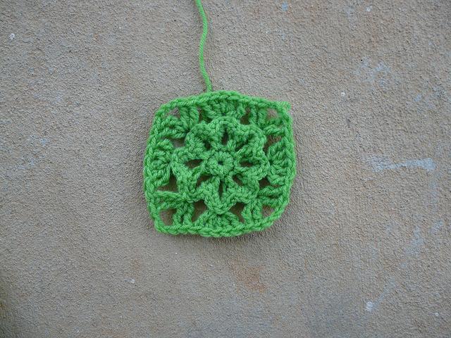 crochet flower crochet square