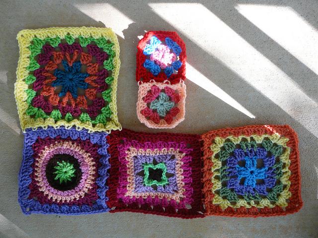 multicolor crochet squares