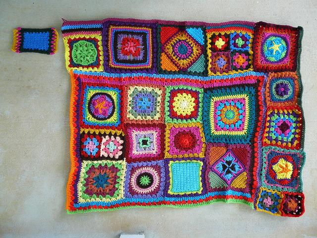 crochet square crochet blanket