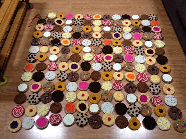 cookie crochet blanket layout