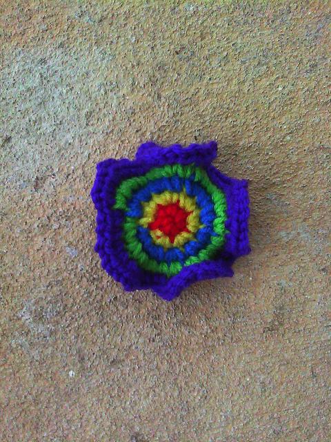 Round 5 of a crochet hyperbolic plane