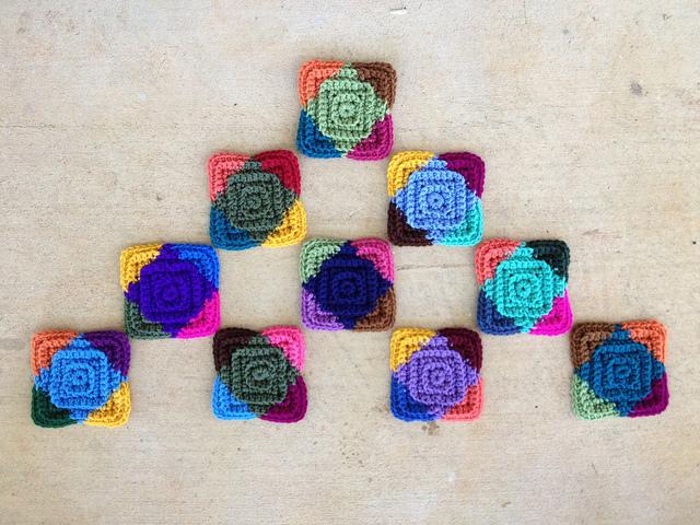 crochetbug, textured crochet squares, textured crochet rectangles, textured crochet blanket, textured crochet afghan textured crochet quilt, multicolor crochet