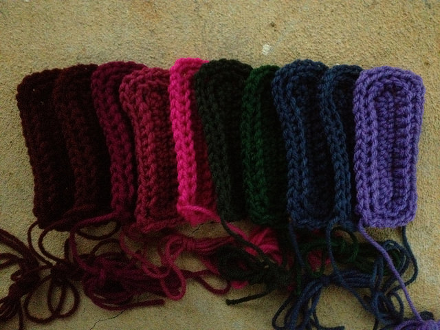 textured crochet rectangles