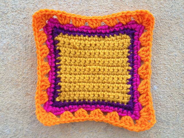 crochet square granny square fat bag crochet purse