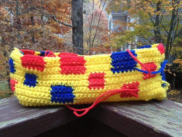 crochetbug, crochet purse, crochet tote, crochet bag, single crochet, mondrian, use what you have, vintage yarn