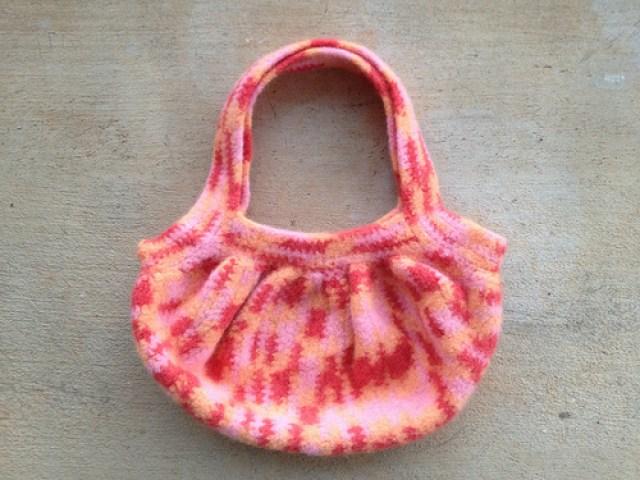 crochetbug, crochet bag, crochet fat bag, crochet purse, felted crochet purse