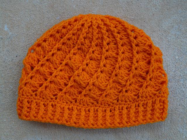 tangerine crochet hat
