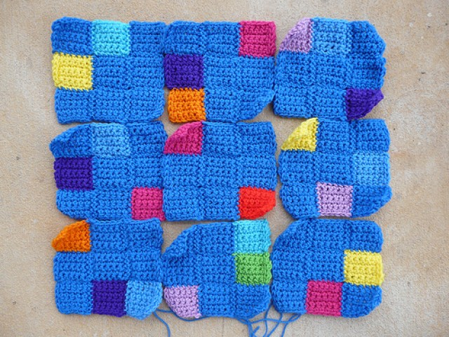 crochetbug, crochet squares, crochet blocks, crochet sudoku, crochet puzzle, crochet blanket, crochet afghan, crochet throw, single crochet