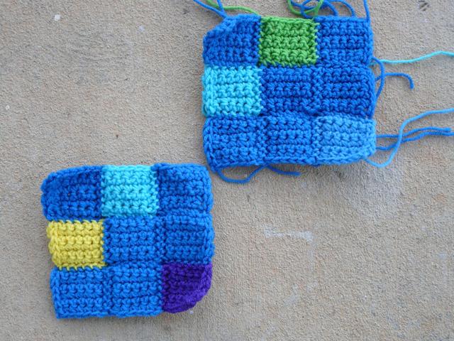 crochet nine patch squares