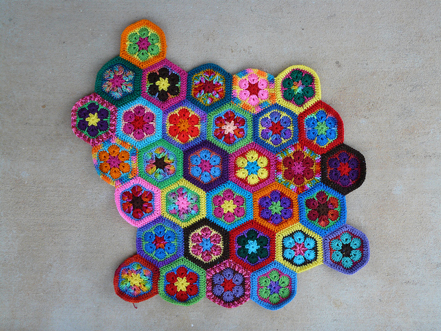 crochet flower meditation