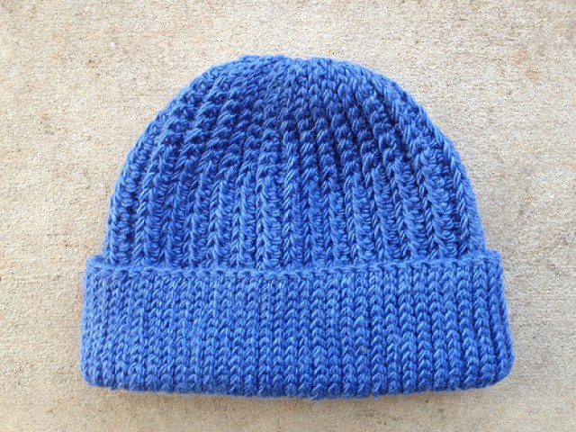 ribbed crochet cap