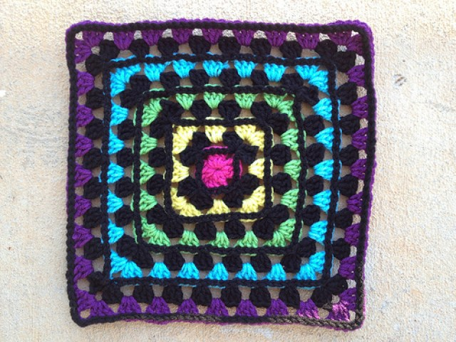 granny square crochet variation