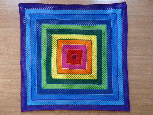 """The partially completed """"If Frank Stella Crocheted"""""""