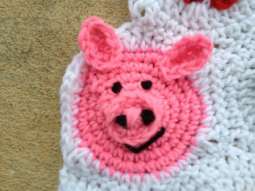 The previously earless pig gets some ears