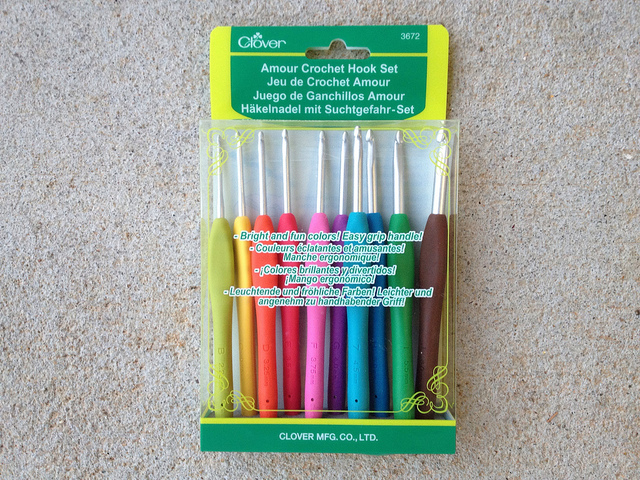 rainbow of crochet hooks