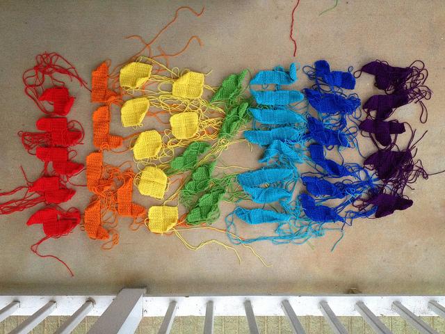 crochet squares, crochet tetrominos