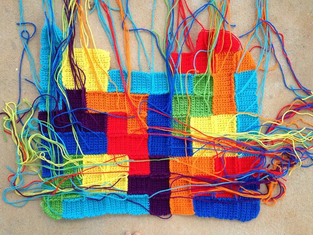 crochet tetris blanket