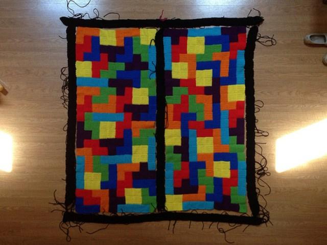 crochet border crochet tetris blanket