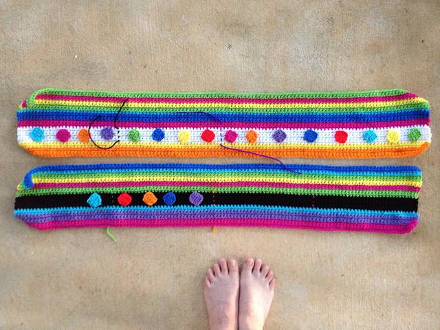 two crochet strips