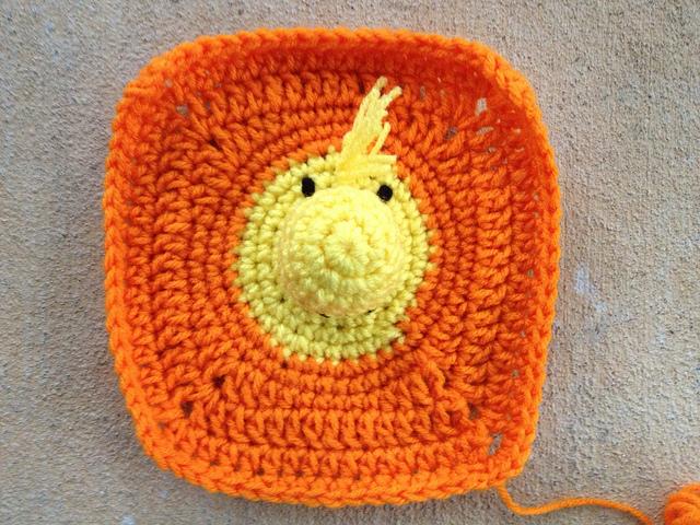Woodstock crochet square