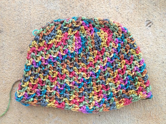 silk crochet chemo cap