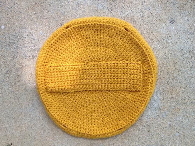 crochet taco purse interior