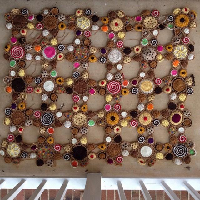crochet blanket crochet cookie motifs