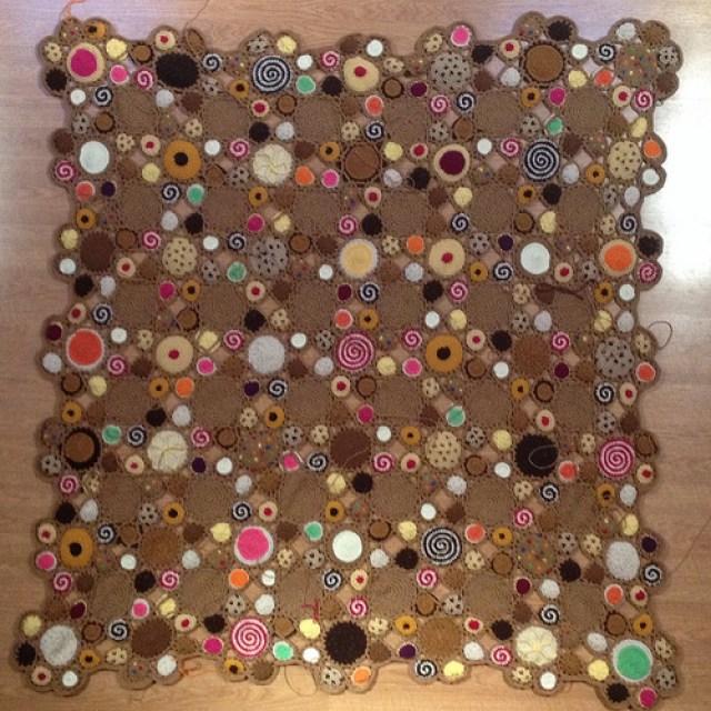 cookieghan, crochetbug, crochet cookies, crochet circles, crochet throw, crochet blanket, crochet afghan