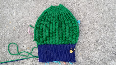 Slow and steady progress on Max's hat