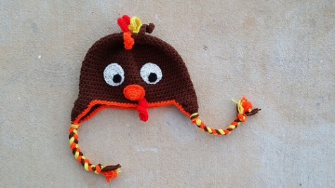 The completed turkey hat