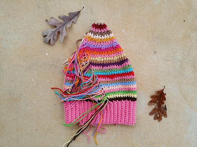 scrap buster crochet hat