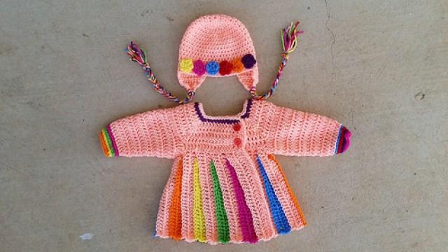 crochet sweater and crochet hat