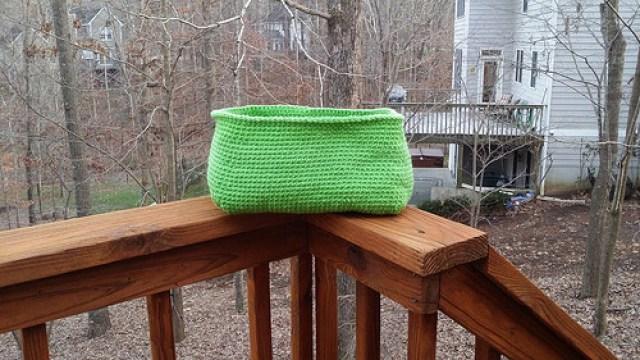 Ikea cubby crochet basket