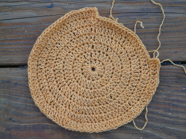 too ruffly crochet circle