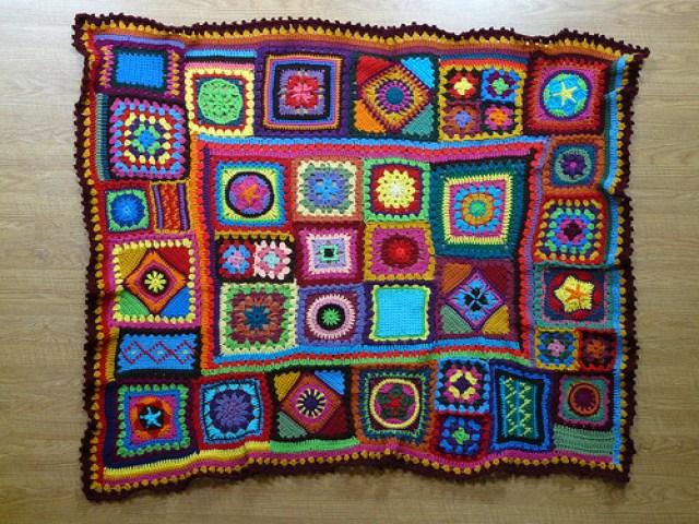 a crochet beach blanket