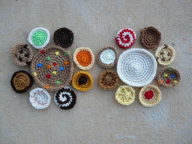 cookie crochet motifs for a crochet purse