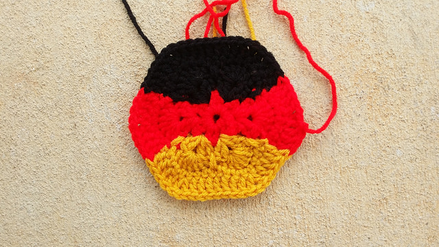 German flag crochet hexagon crochet soccer ball