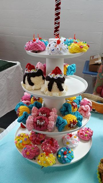 crochet hair clip confections