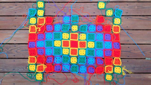 rainbow crochet squares