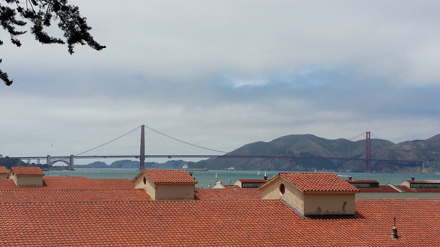 Fort Mason and the Golden Gate Bridge