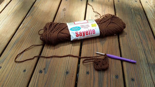 brown vintage yarn