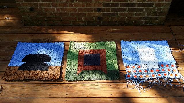 crochet blanket corners