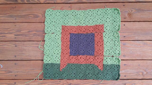 television set granny square picture