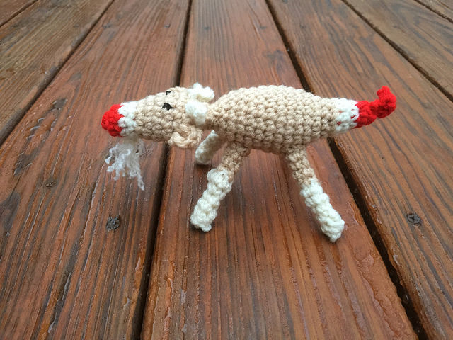 sock monkey crochet goat